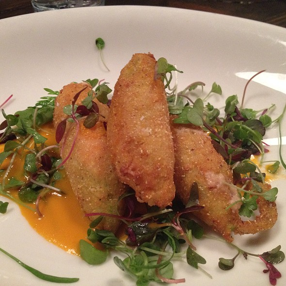 Fried squash blossoms stuffed w/ hamd and cheese @ Local Three Kitchen & Bar