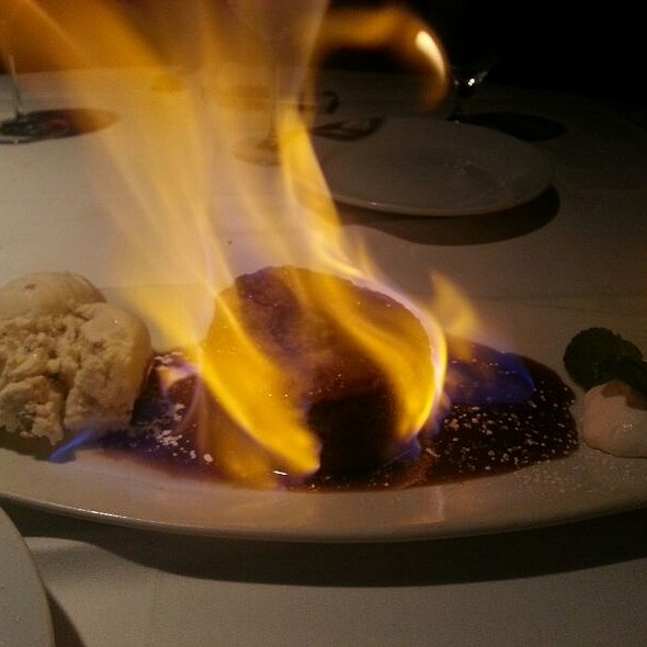 Flaming Pineapple Cake @ Wildfish Seafood Grill