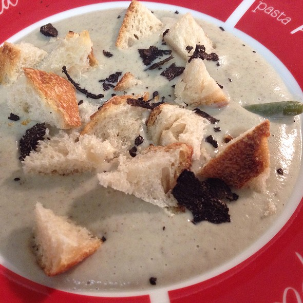 Cauliflower And Wild Mushroom Soup With Shaved Black Truffles @ Z'graggen's Family Home