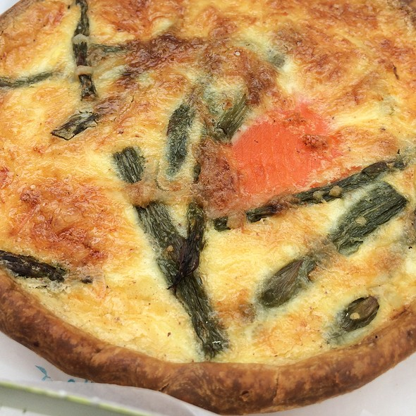 Smoked Salmon & Asparagus Quiche @ Rahier Patisserie Inc