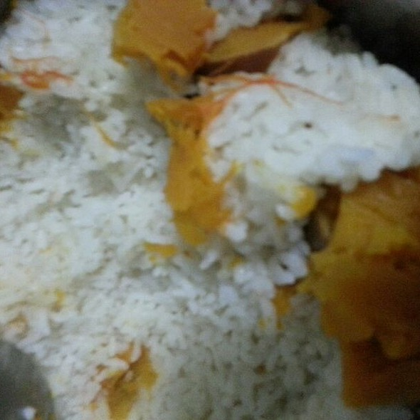 Pumpkin steamed rice