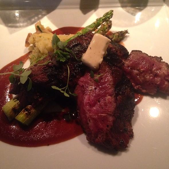 flat iron steak - Abacus, Dallas, TX