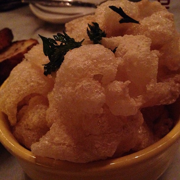 Salt & Vinegar Beef Tendon Chips @ The Purple Pig