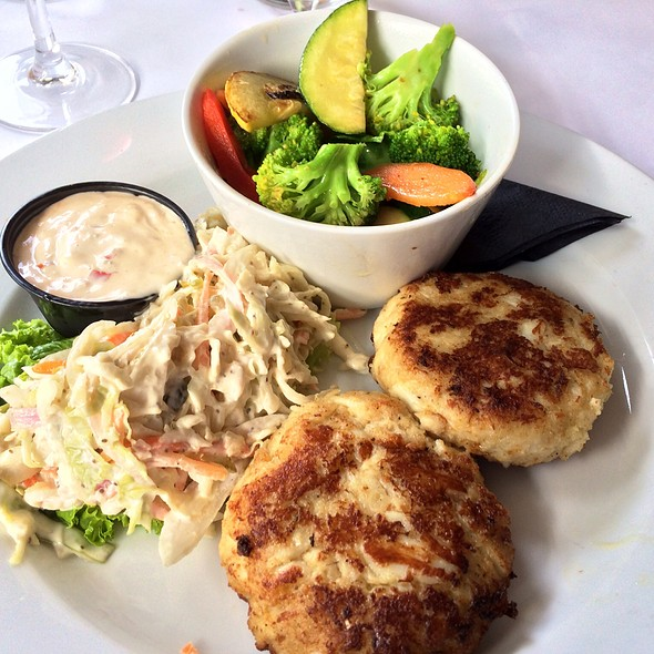 Crab Cakes With Cole Slaw And Seasonal Vegetables - The Front Page - DC, Washington, DC