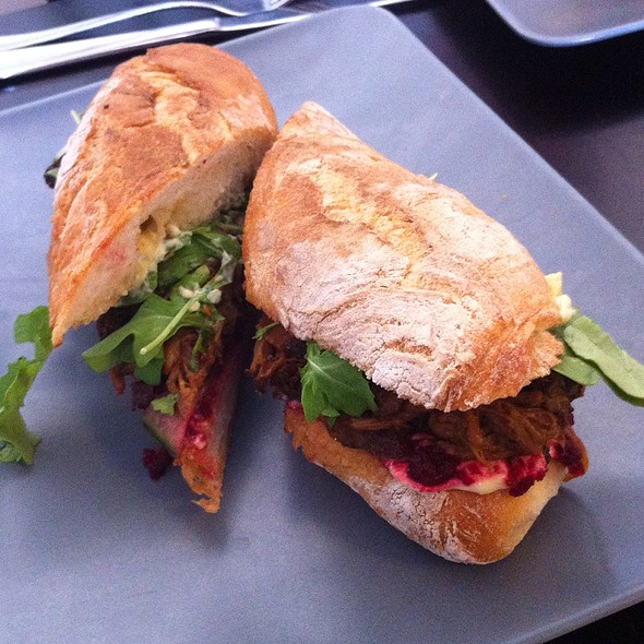 Pulled Pork Ciabata Roll With Aoili
