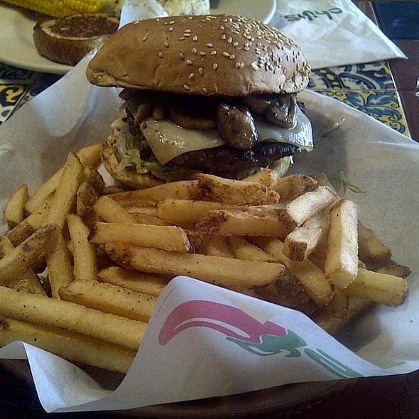 Swiss Mushroom Burger 6oz @ Chili's