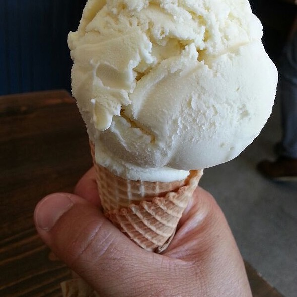 Olive Oil Ice Cream On Housemade Sugar Cone @ Mr. and Mrs. Miscellaneous
