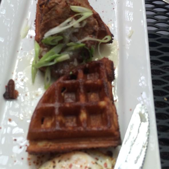 Fried Chicken And Bacon Waffles - Monti's Rotisserie & Bar, Santa Rosa, CA