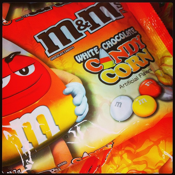 Candy Corn M&Ms @ CVS/Starbucks