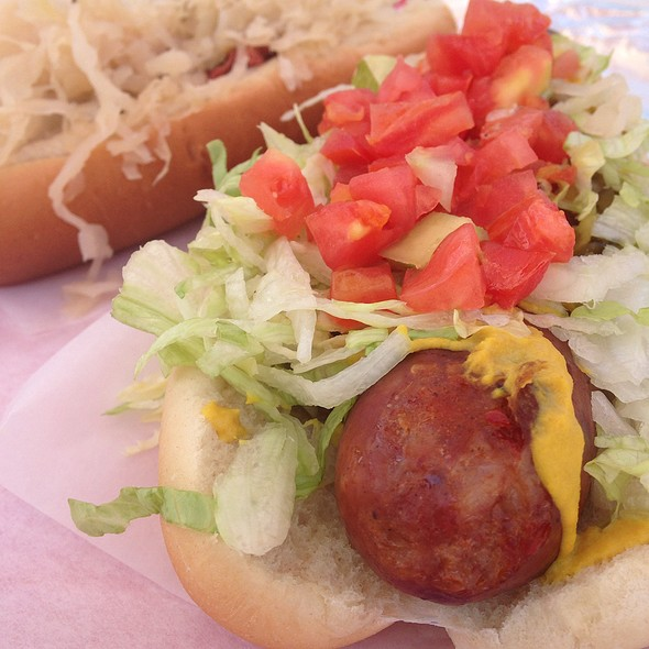 Chicago Polish Dog (Spicy) @ Pinks Hot Dogs