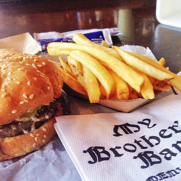 J.C.B. Jalepeno Creamcheese Burger @ My Brother's Bar