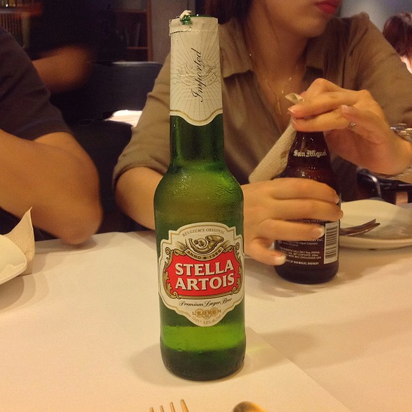 Stella Artois @ Shrimp Bucket