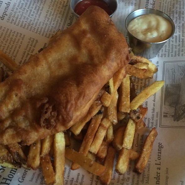 Fish and Chips - Against The Grain Urban Tavern - Leaside, Toronto, ON