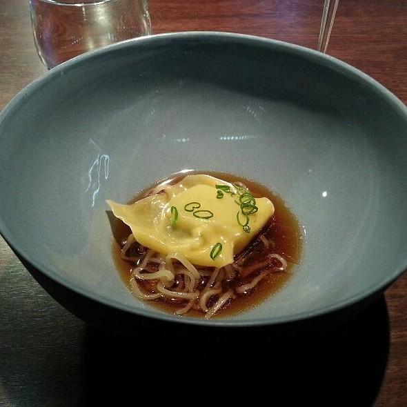 Scallop Wonton, Kombu, Duck Broth @ Momofuku Seiōbo