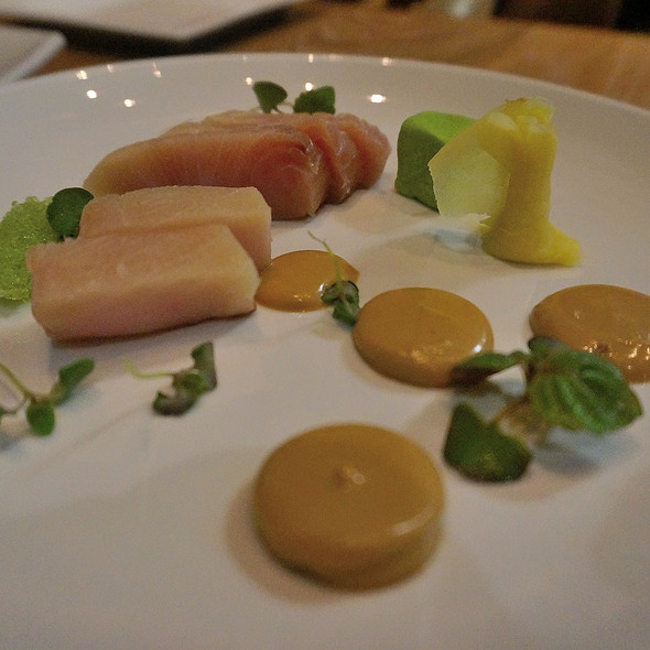 Hamachi crudo w/ soy emulsion @ The Pig & The Pearl
