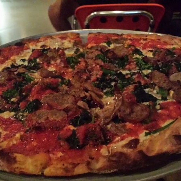 Sausage and Broccoli Rabe Pizza @ Tucci's Fire N Coal Pizza