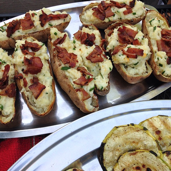 Twice Baked Potato With Bacon @ Home