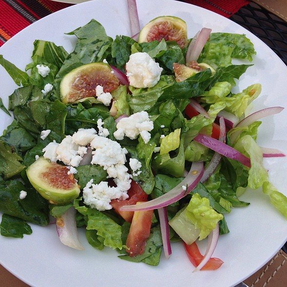 Goat Cheese Salad With Figs @ Home