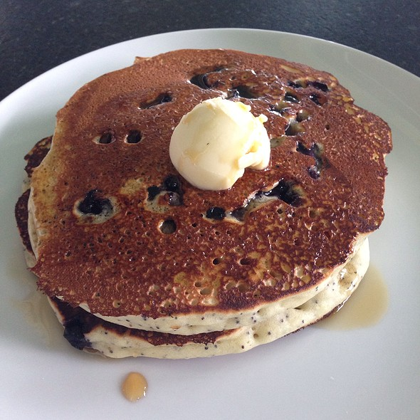 Lemon Poppyseed Pancakes With Blueberries - Chebeague Island Inn, Chebeague Island, ME