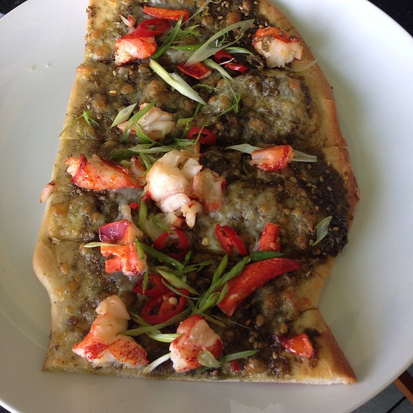 Mediterranean Lobster Flatbread - Chebeague Island Inn, Chebeague Island, ME