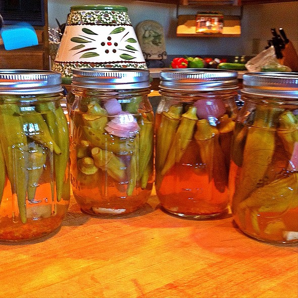 Spicy Okra Pickles @ Casa Olive