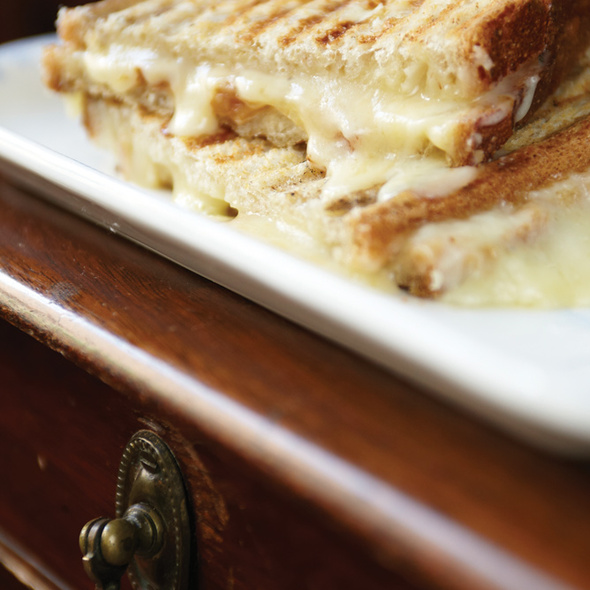 Grilled 3-Cheese Sandwich @ London Tea Room