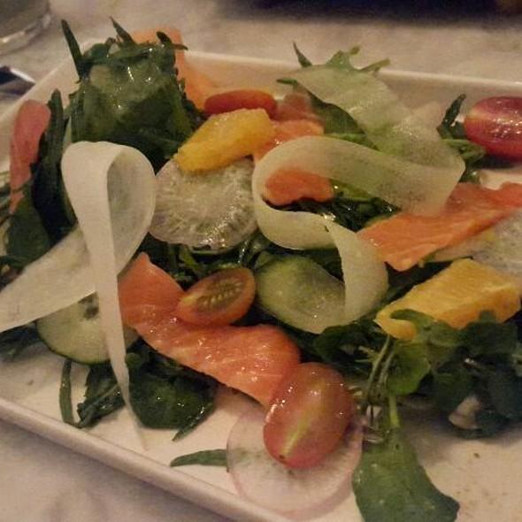 Salmon Sashimi Salad @ Aw Kitchen Plaza Senayan