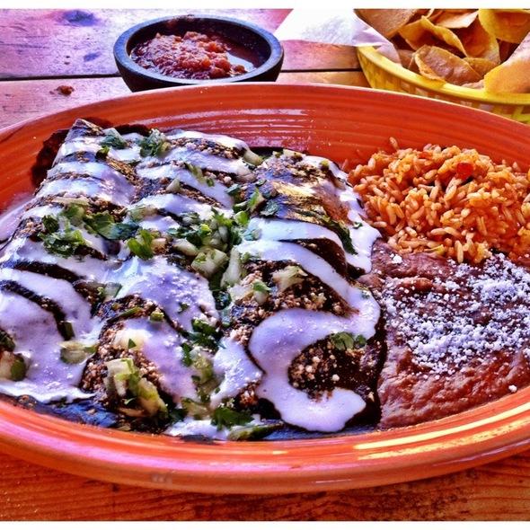 Enchiladas de Mole Poblano @ el guapo's cantina