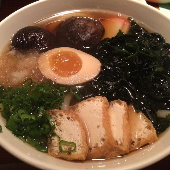 Udon with Soft Boiled Egg and Seaweed @ Biwa