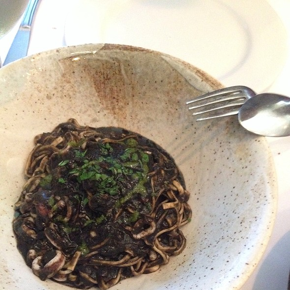 Squid Ink Linguini @ La Ciccia Restaurant