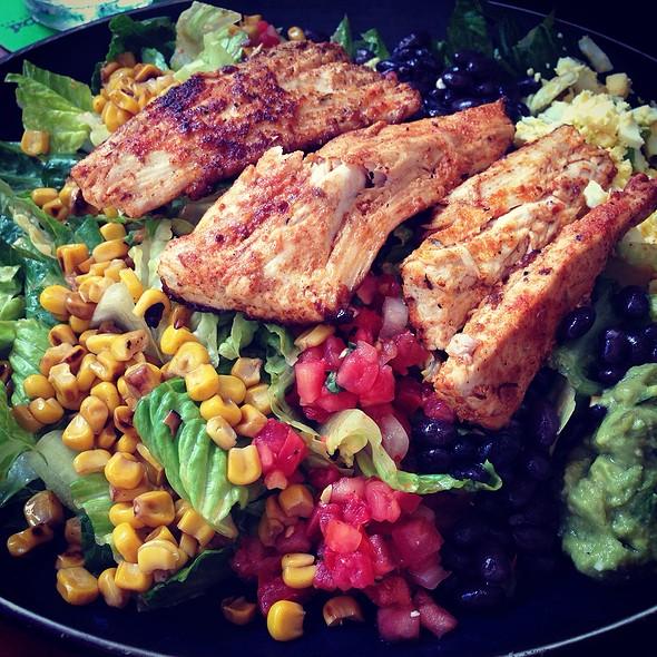 Mexican Cobb Salad & Blackened Mahi - Rocco's Tacos & Tequila Bar - Boca Raton, Boca Raton, FL