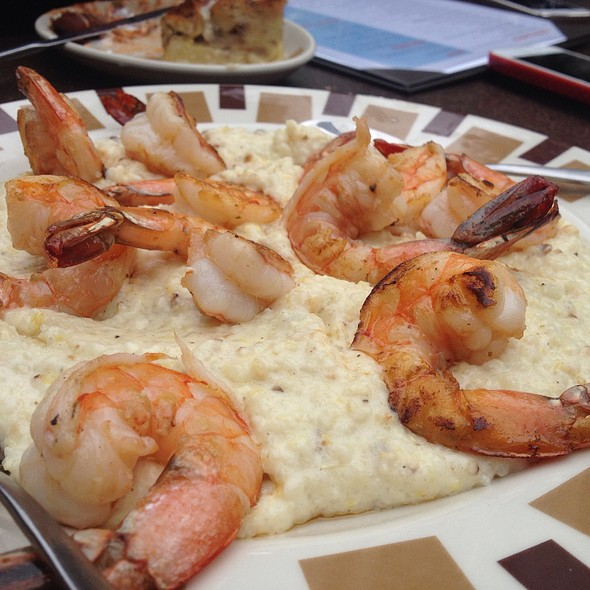 Shrimp On Cheesy Grits - Border Grill - Downtown LA, Los Angeles, CA