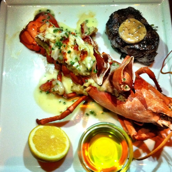 Lobster Tail And Filet Mignon @ FIX Restaurant & Bar