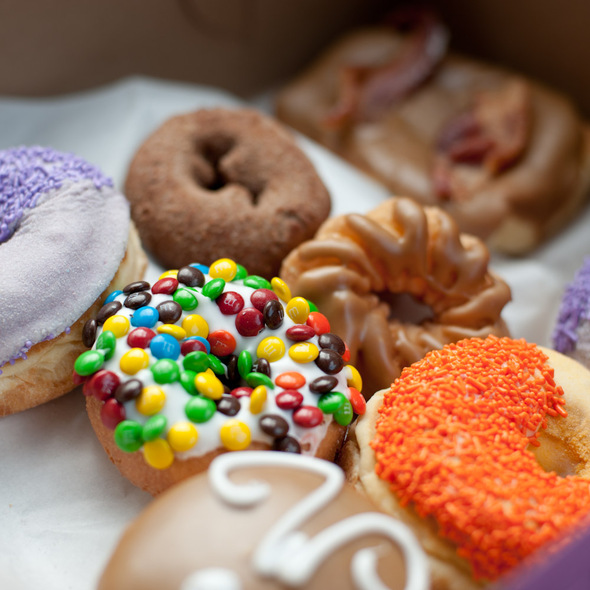 Assorted Donuts @ Voodoo Donuts