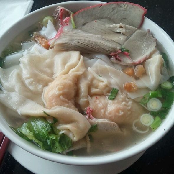 Shrimp Wonton Rice Noodle Soup @ a & k noodle