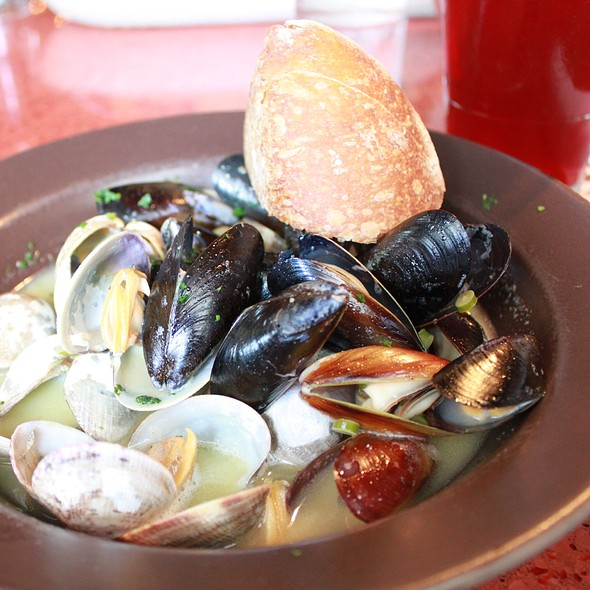 Steamed Clams and Mussels @ Seatown Seabar and Rotisserie