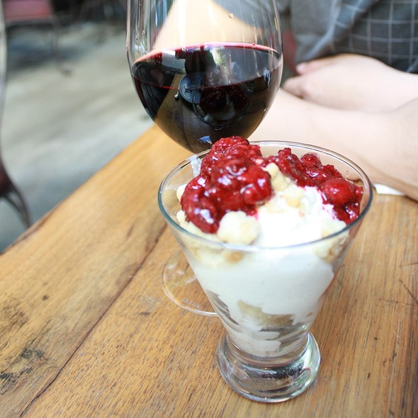 Balsamic Soaked Strawberry Shortcake Sundae @ Purple Cafe and Wine Bar