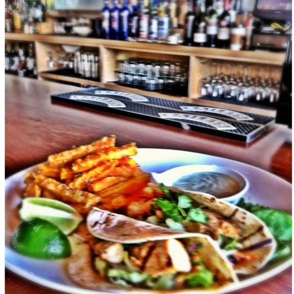 Grilled Fish Tacos With Tempura Sweet Potato Fries @ Yokozuna