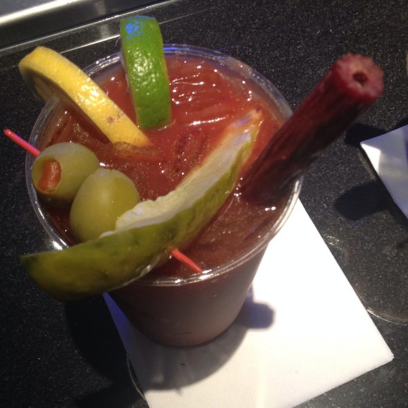 Bloody Mary With Beef Stick Straw