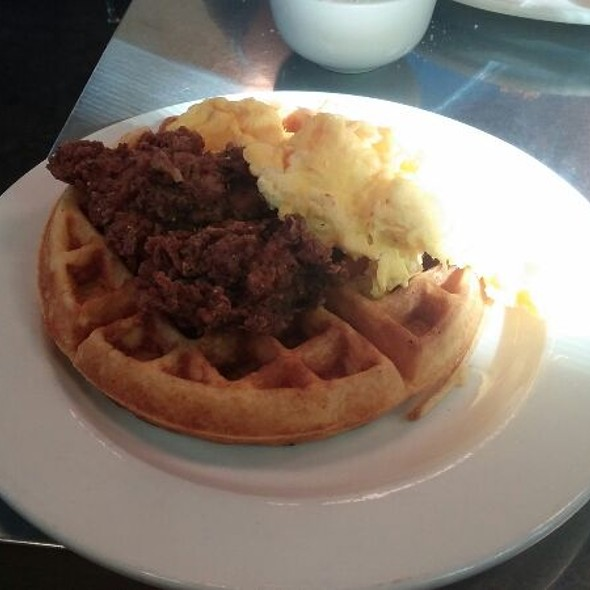 Chicken And Waffles, Two Eggs