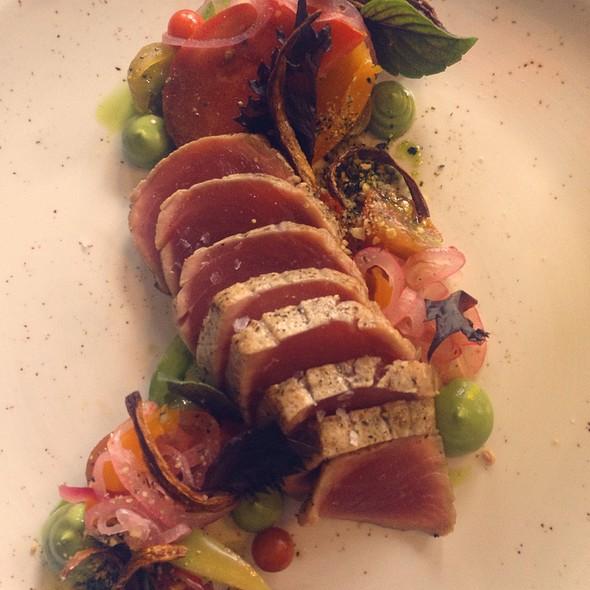 Seared Bigeye Tuna + Heirloom Tomatoes - Easy Bistro, Chattanooga, TN