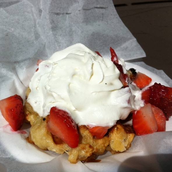 An Authentic Belgian Waffle @ Taste Of Belgium