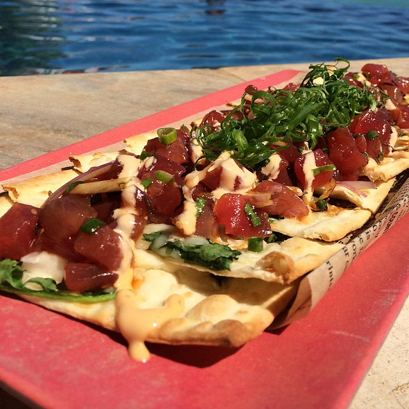 Ahi Poke Flatbread @ The Edge Of Waikiki