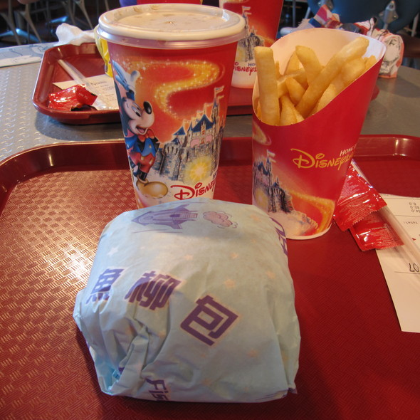 Cheeseburger meal @ Hong Kong Disneyland
