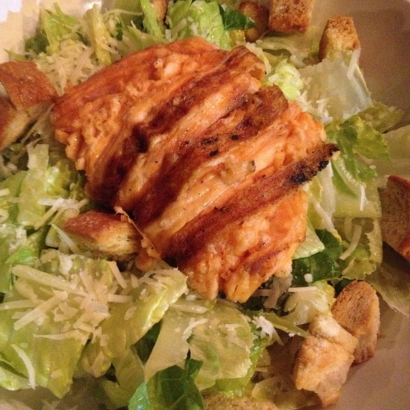 Cesar Salad With Grilled Salmon - Back Deck, Boston, MA