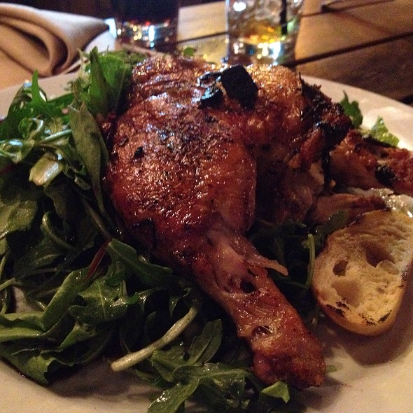 Chicken With Spinach Salad - Back Deck, Boston, MA