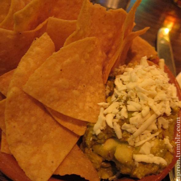 nachos with guacamole @ Yerba Buena