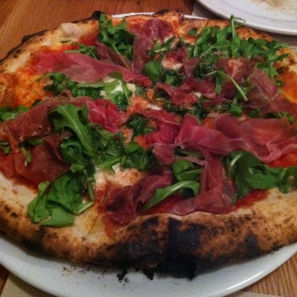 Proscuitto And Arugula Pizza @ Mother Dough