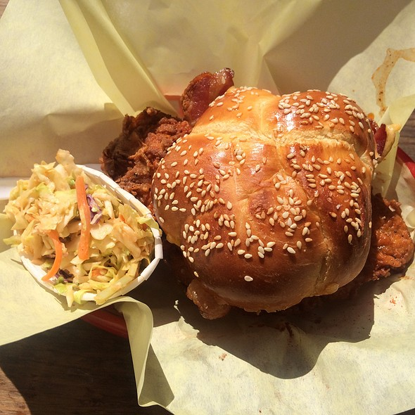 Jalapy With Cheese And Bacon @ Cackalacks Hot Chicken Shack