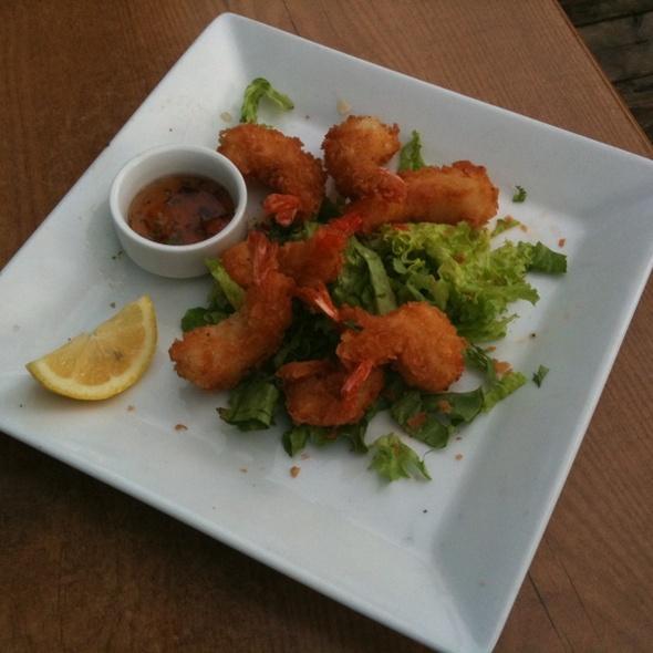 Crispy honey phyllo shrimp @ Milestones Grill + Bar